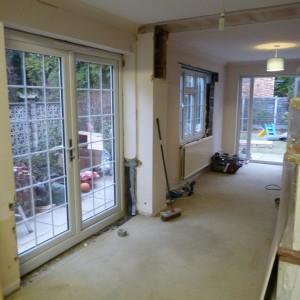 New window and doors in