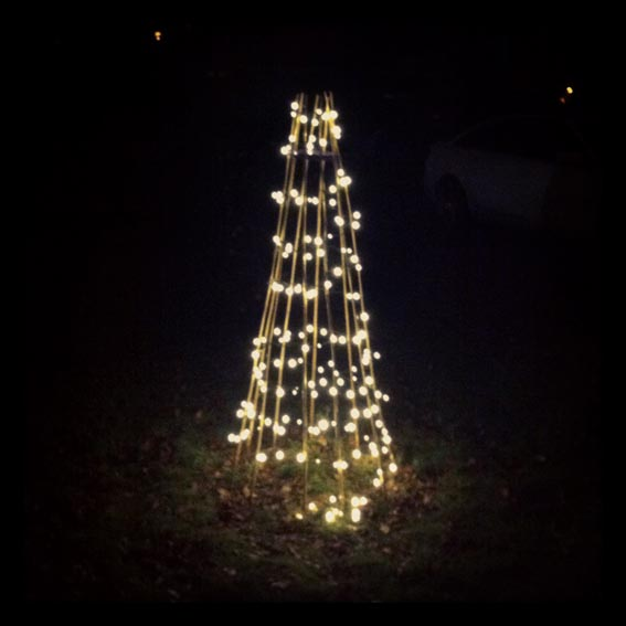 How To Make An Outdoor Light Tree Growing Spaces - Christmas Tree Shaped Lights
