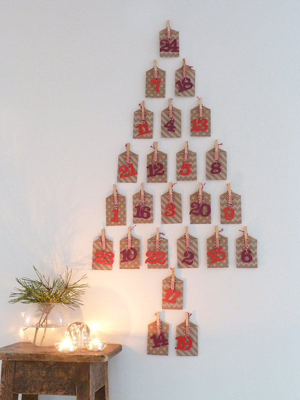 Advent Calendar Handmade : Our homemade advent calendar growing spaces