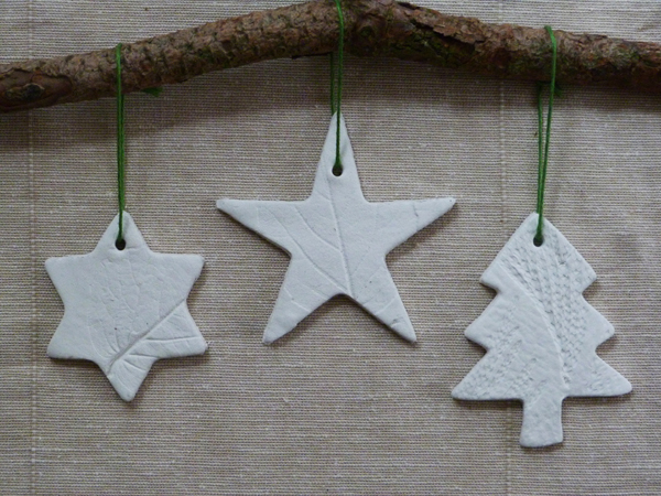Pin ... - Make It} Leaf-embossed Air-drying Clay Tree Decorations Growing Spaces