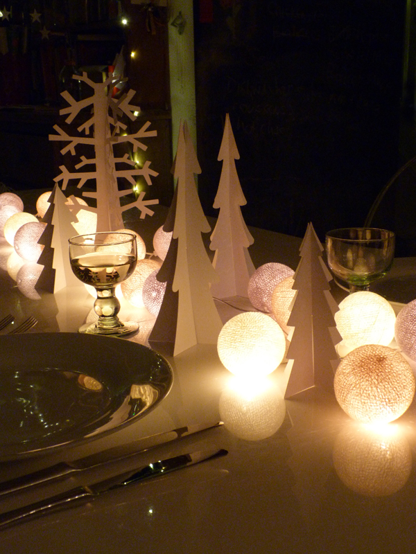 Christmas tabletop glow with Cable & Cotton