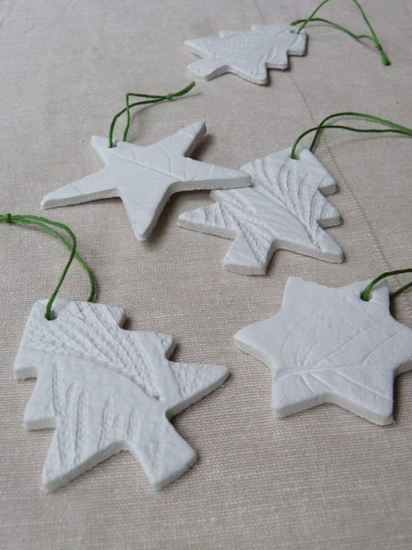 Make It Leaf Embossed Air Drying Clay Tree Decorations