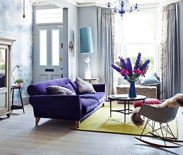 Purple and green room from House to Home | Growing Spaces