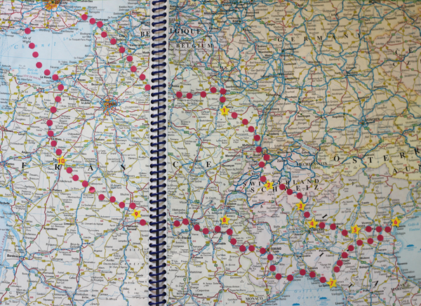Annotated Europe road trip map | Growing Spaces