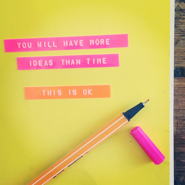 You will have more ideas than time | Growing Spaces