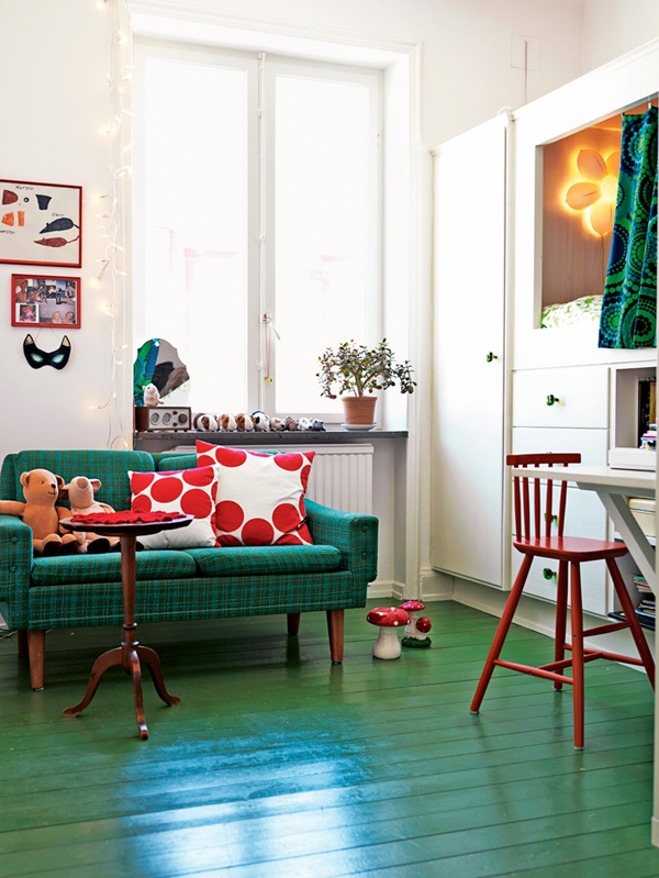 Gender-neutral kids rooms | Elle Decoration via Growing Spaces