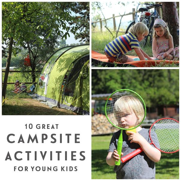 Campsite activities for young children