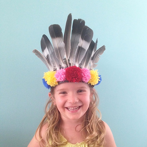 DIY feather headdress | Growing Spaces