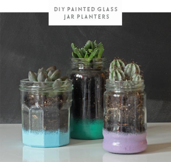 DIY painted glass jar planters tutorial | Growing Spaces
