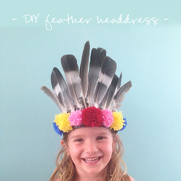 Easy DIY feather headdress - Growing Spaces