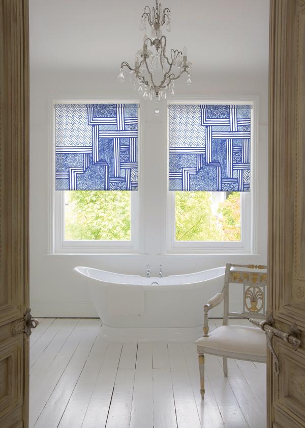 Vogl blue bathroom for Luxaflex | Growing Spaces
