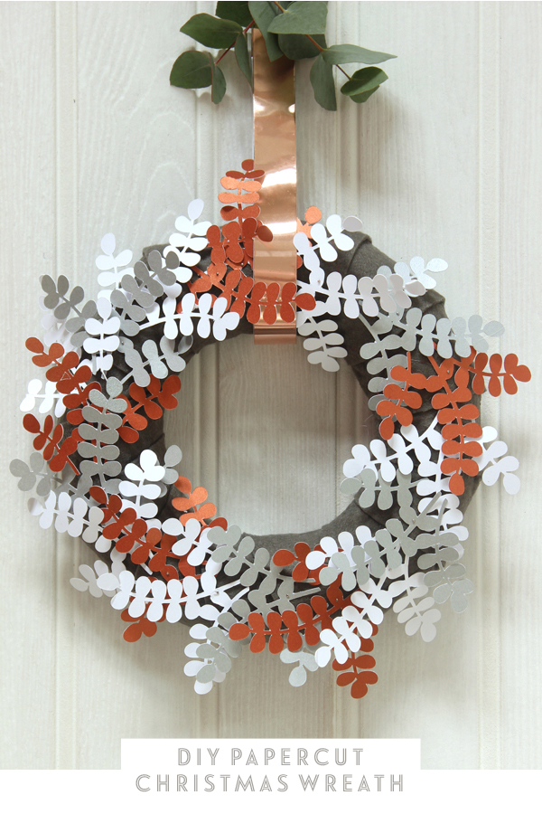DIY papercut Christmas wreath | Growing Spaces