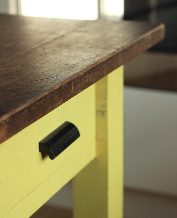 School bench kitchen island | Growing Spaces