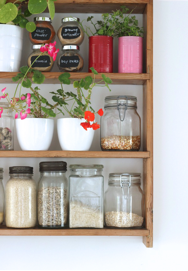 Urban jungle bloggers kitchen shelfie | Growing Spaces