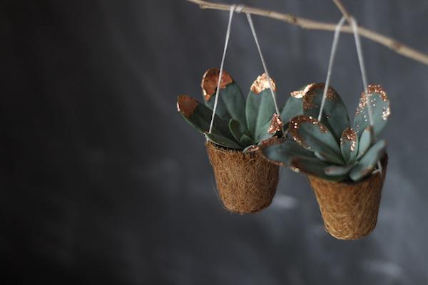 Succulent festive hanging decoration