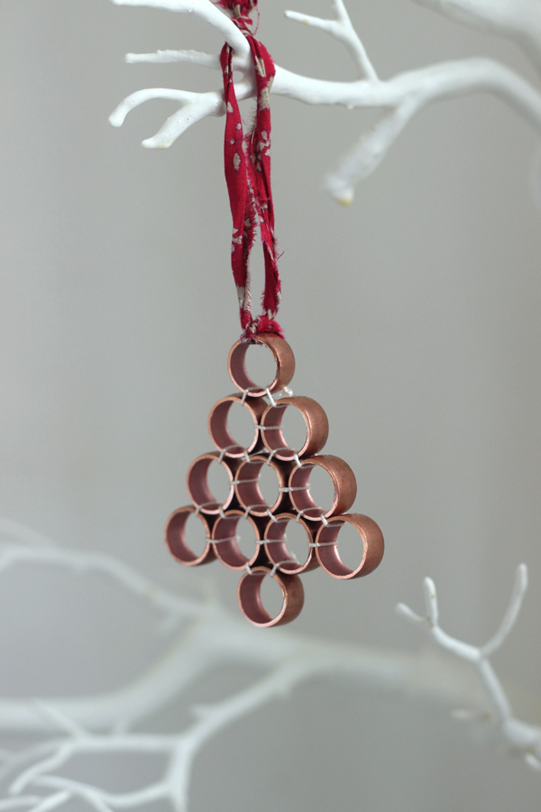 copper pipe christmas decoration growing spaces - Copper Christmas Decorations