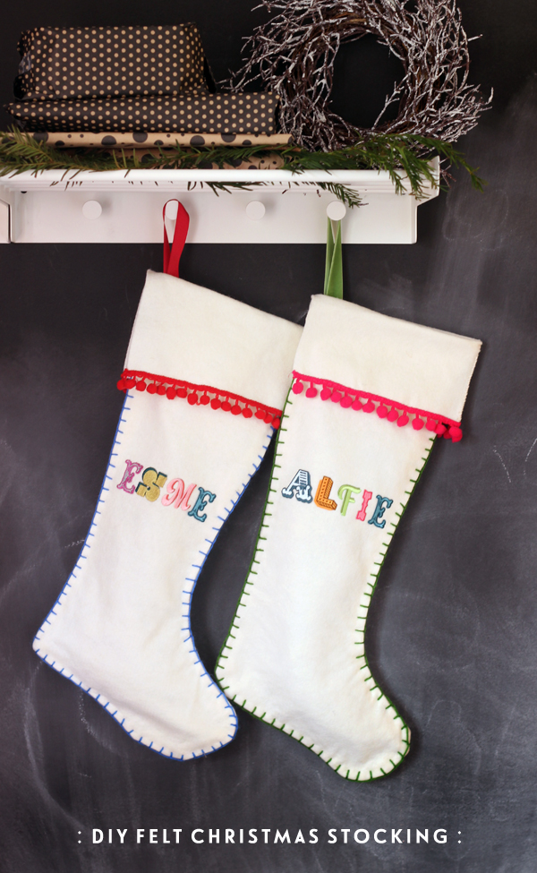 DIY felt stocking tutorial from Growing Spaces
