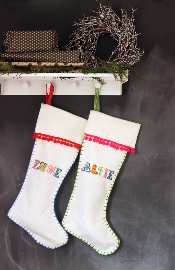 DIY felt stockings | Growing Spaces