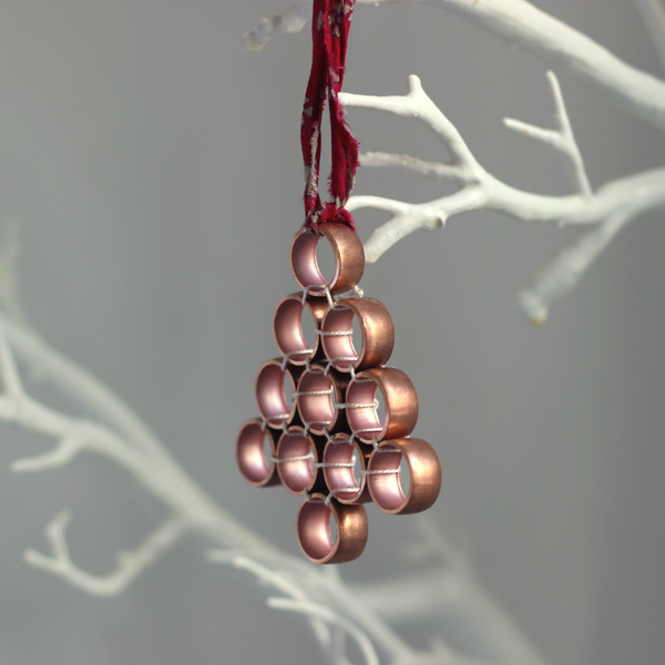 diy tree decoration from copper pipe growing spaces