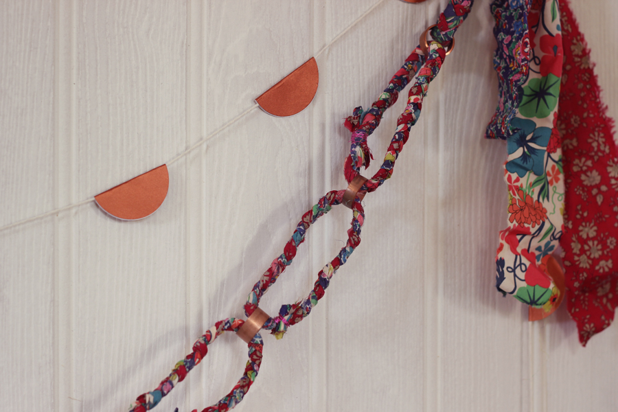 Liberty fabric plaited garland | Growing Spaces
