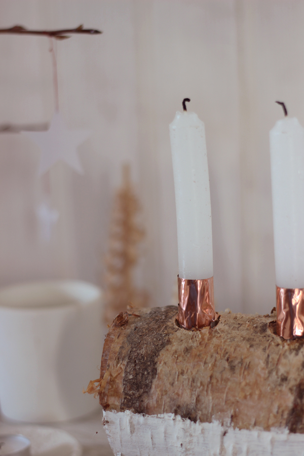 Log candleholder | Growing Spaces