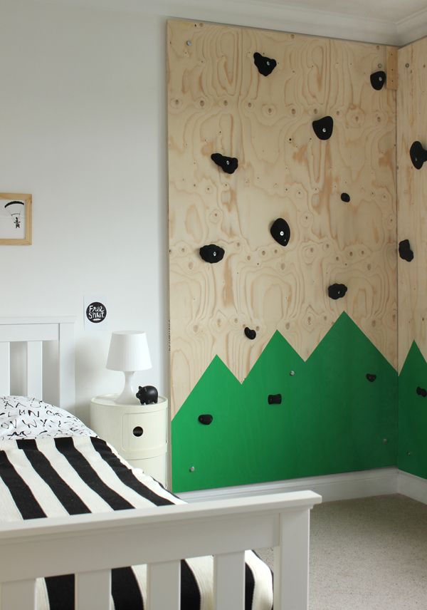 indoor climbing wall for an outdoors themed bedroom growing spaces