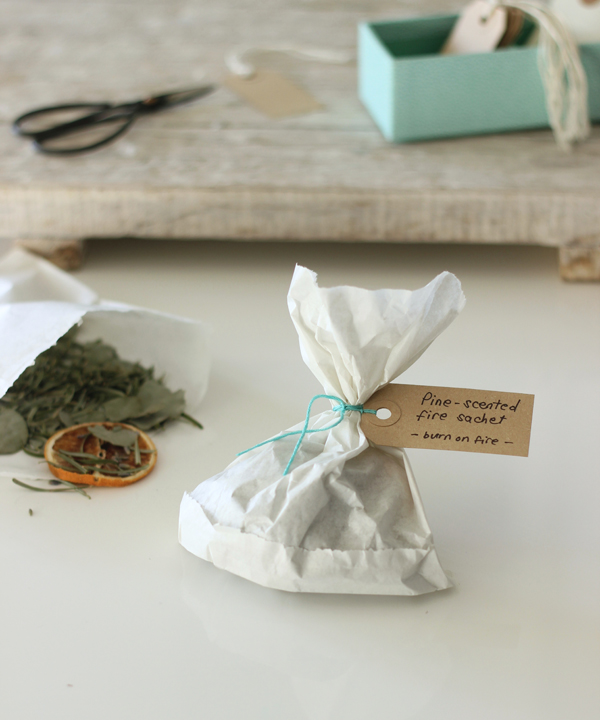 - the everyday spruce - DIY pine-scented fire sachet gift   Growing Spaces