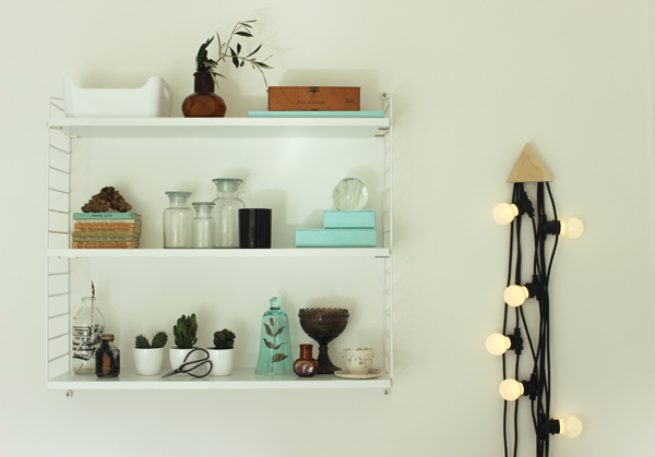 Lighting garland in a home office | Growing Spaces