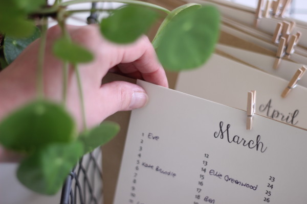 DIY greetings card organiser | Growing Spaces