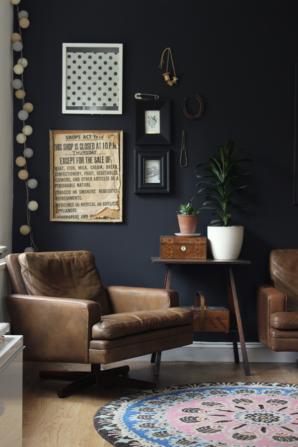 Dark Living Room Ideas: Impulsive Decorating: Our Black Living Room Wall