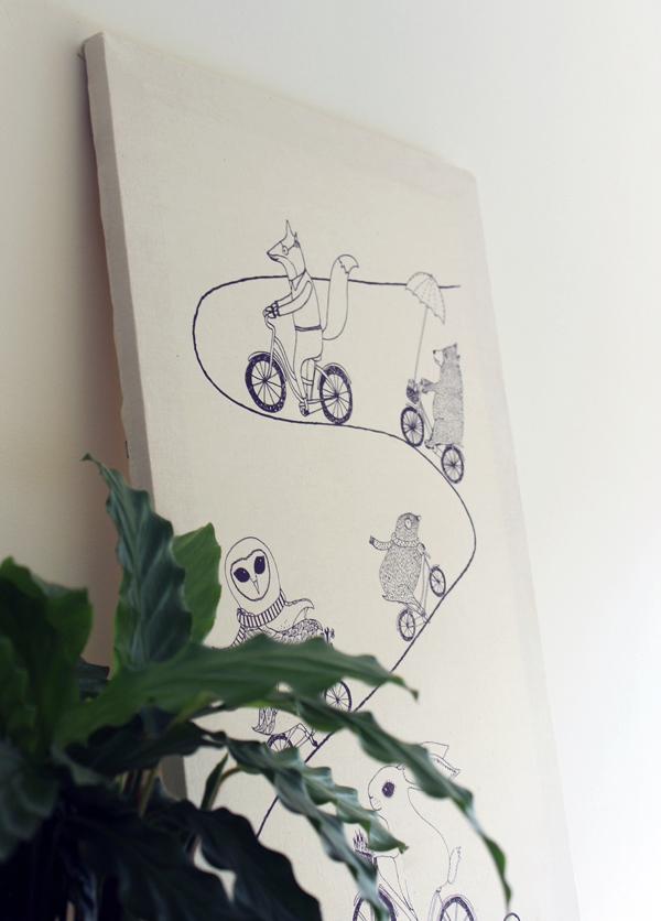 DIY tea towel artwork #theeverydayspruce   Growing Spaces
