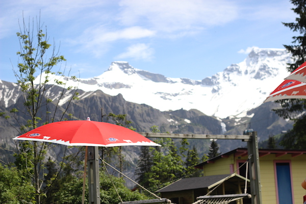 Open-air swimming pool view at Adelboden, Switzerland | Growing Spaces