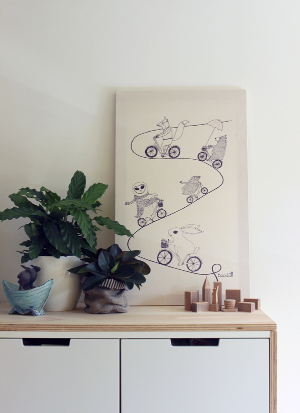 theeverydayspruce diy tea towel wall art growing spaces