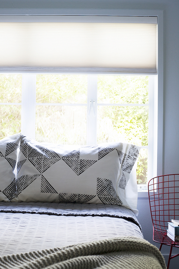 DIY black and white pillowcases - a selection of the best | Growing Spaces (image via Go Forth)