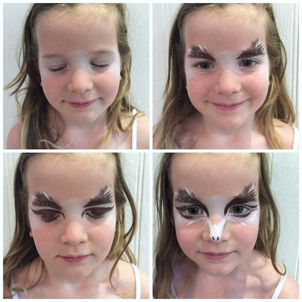 Owl facepaint step-by-step | Growing Spaces