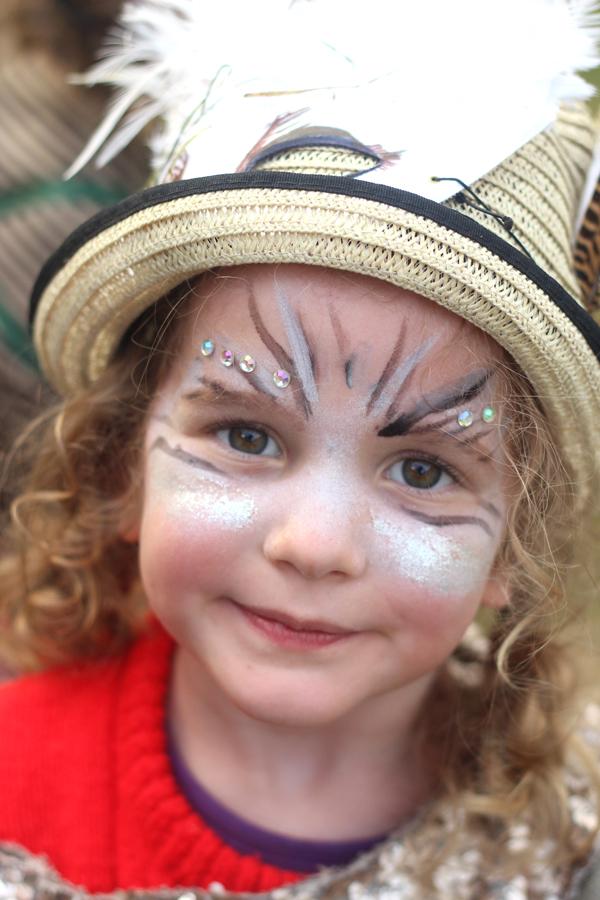 Just So Festival kids owl facepaint | Growing Spaces