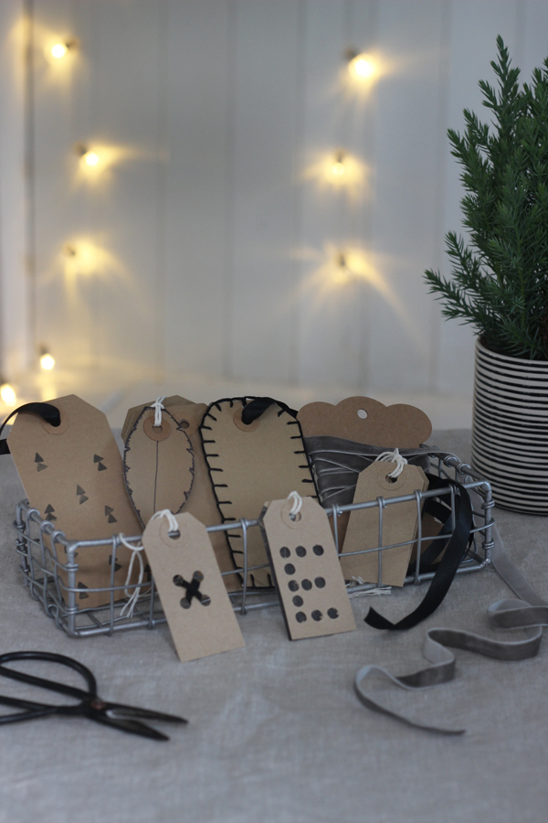 5 DIY gift tags using parcel tags | Growing Spaces