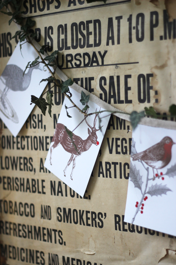 Christmas card bunting with Thornback and Peel | Growing Spaces