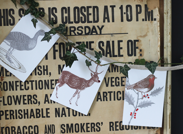 Christmas card bunting | Growing Spaces