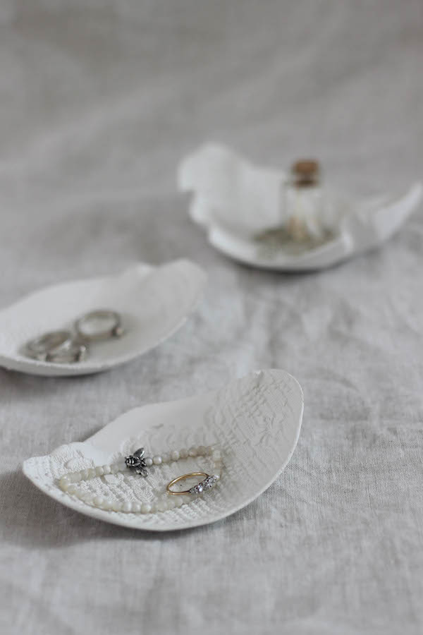 How to make air-drying clay trinket dishes