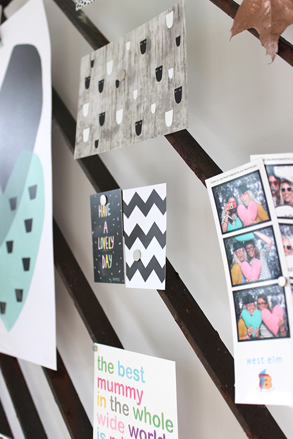 DIY moodboard made from an old iron gate | Growing Spaces