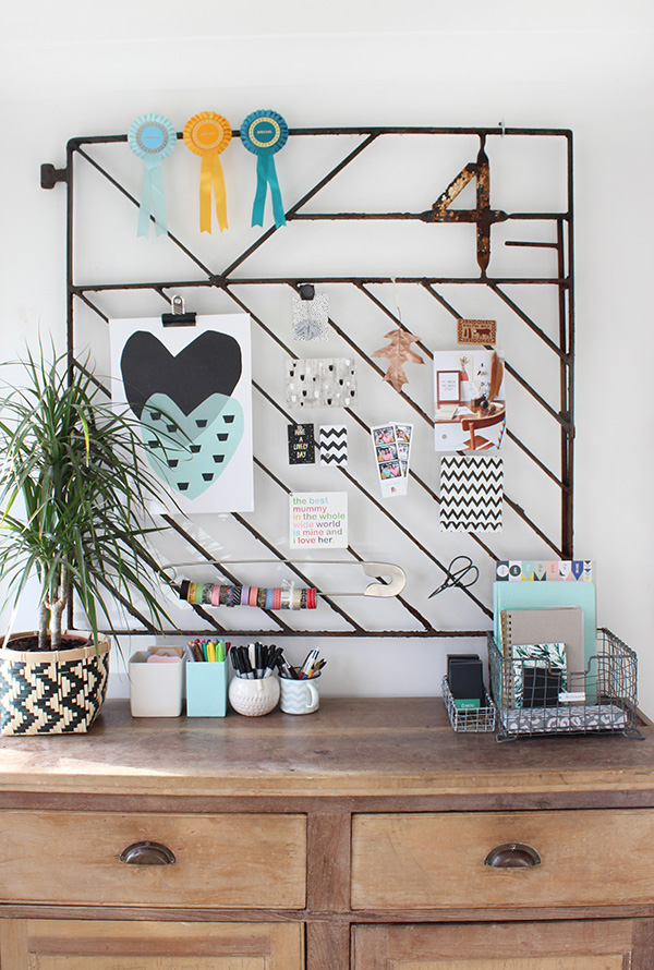 DIY moodboard from old iron gate | Growing Spaces