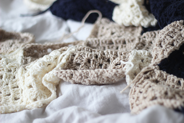 crochet blanket in progress | Growing Spaces