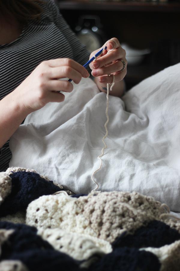crochet in bed | Growing spaces