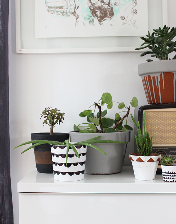 DIY painted plant pot ideas