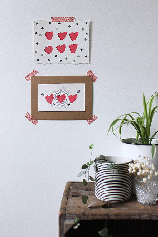 DIY watercolour valentine cards | Growing Spaces