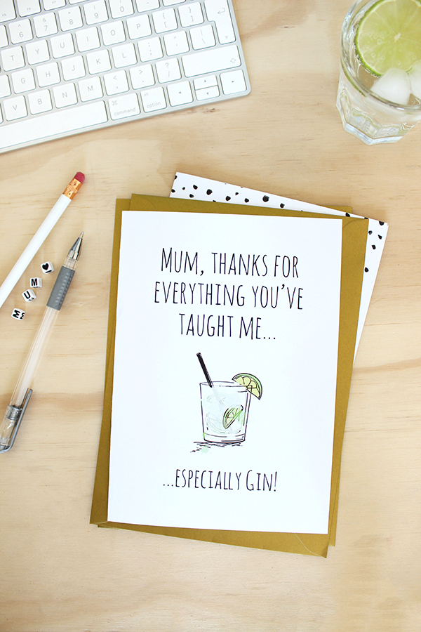 Mother's Day card from Soda Prints | Growing Spaces
