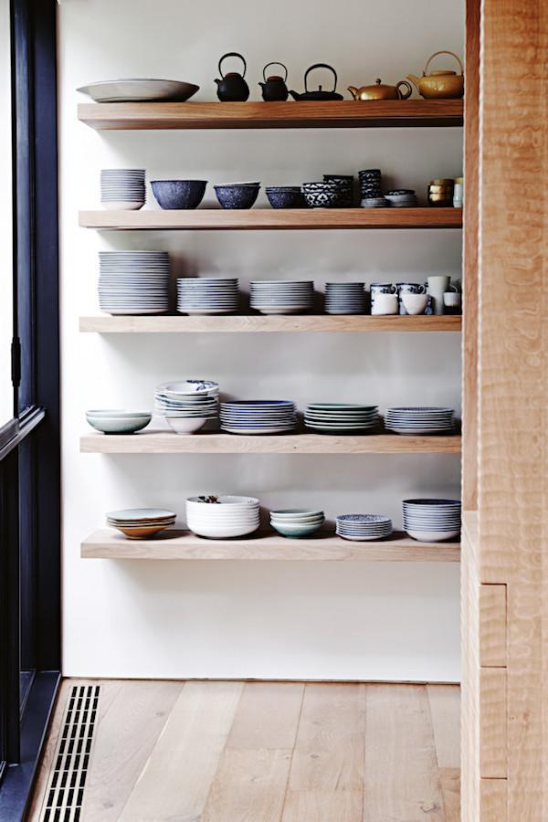 7 things to display on open shelving - crockery | Growing Spaces
