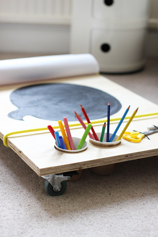 DIY kids art table on wheels | Growing Spaces