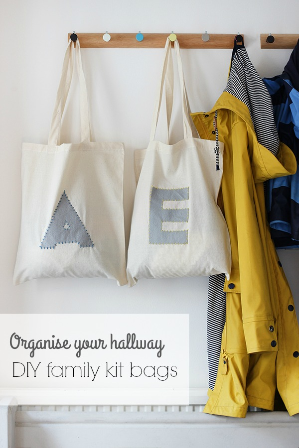 Organise your hallway with DIY kit bags | Growing Spaces